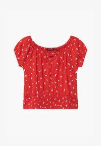 Blue Seven - TEEN GIRL OFF SHOULDER - Print T-shirt - rot - 0