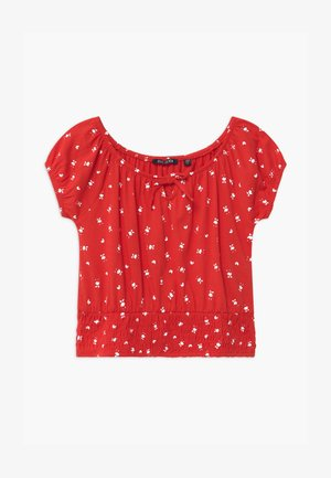 TEEN GIRL OFF SHOULDER - Print T-shirt - rot