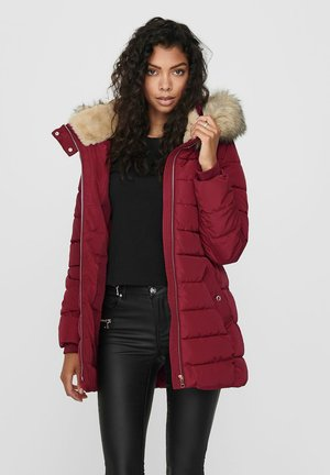 Winter coat - rhubarb