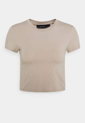 NU-IN X AMALIE STAR CROPPED BABY FIT - T-shirts - beige