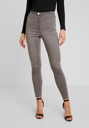 VICE EXPOSED ZIP AND BUTTON WITH ANKLE ZIP - Jeans Skinny Fit - grey
