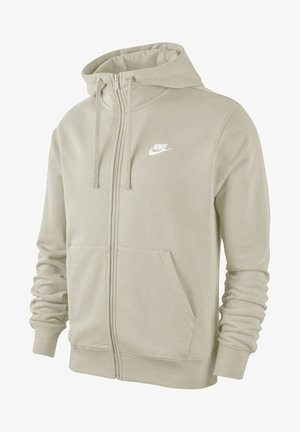 M NSW FZ FT - Zip-up hoodie - light bone/light bone/white