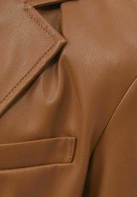 Bershka - Faux leather jacket - brown - 5