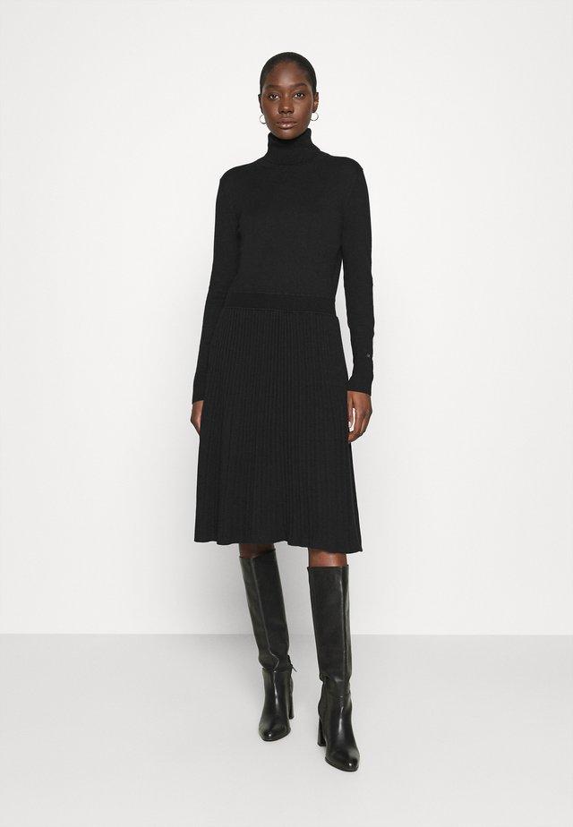 FLARE DRESS - Jumper dress - black