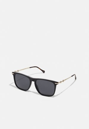 UNISEX - Sunglasses - black/gold-coloured/grey