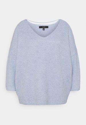 VMJULIE V-NECK BLOUSE - Pullover - blue fog/melange