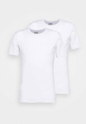 UNDERWEAR BACO 2 PACK - Jednoduché triko - white