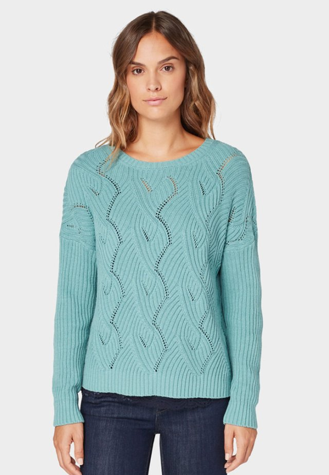 Sweter - mineral stone blue