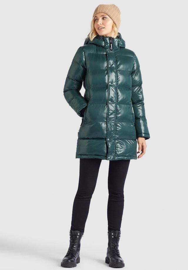 RILANA - Winterjas - dunkelgrün glänzend