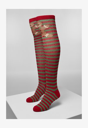 CHRISTMAS - Ponožky - red   green