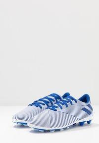 adidas Performance - NEMEZIZ 19.4 FXG - Moulded stud football boots - footwear white/royal blue/core black - 3