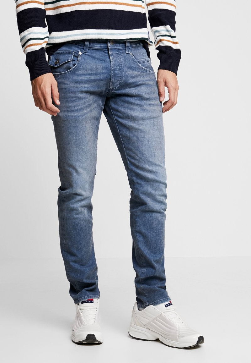 Amsterdenim - JOHAN - Jeans Tapered Fit - regenwolk