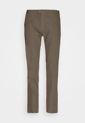TAILORED SEERSUCKER TRIOUSERS - Chino kalhoty - military green