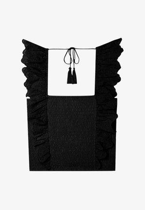 MIT SCHWEIZER STICKEREI  - Blouse - black