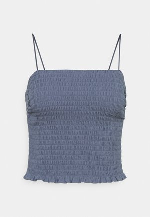 BARE SMOCKED CAMI - Top - blue