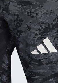 adidas Performance - 3 BAR CAMOUFLAGE DESIGNED4TRAINING PANTS - Träningsbyxor - black - 5