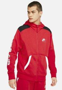 Nike Sportswear - HOODIE - Zip-up sweatshirt - university red black white - 3