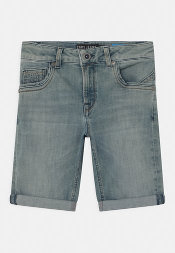 TRANES - Denim shorts - green cast