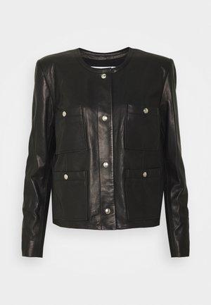 COMPLET  - Kožená bunda - black