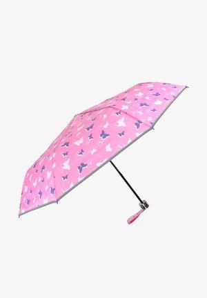 COMPACT UMBRELLA WITH BUTTERFLIES - Umbrella - rosa