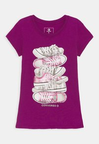 Converse - SHOE STACK TEE - Print T-shirt - icon violet - 0
