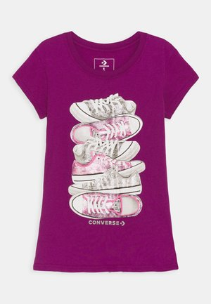 SHOE STACK TEE - Print T-shirt - icon violet