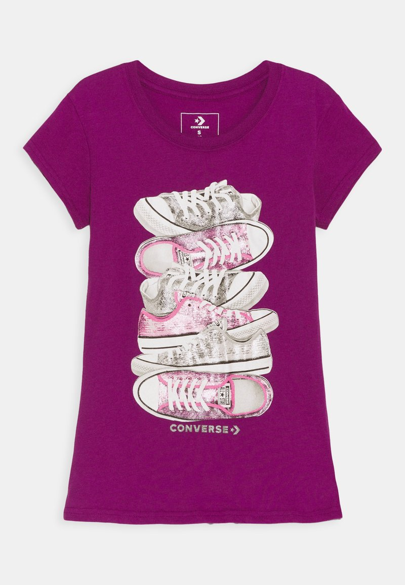 Converse - SHOE STACK TEE - Print T-shirt - icon violet