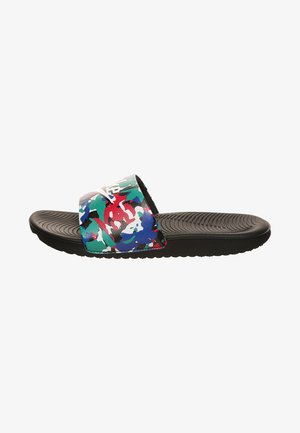 KAWA SLIDE SE - Badslippers - black/white/ hyper blue