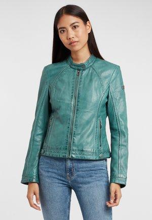 GGJANY LAMAS - Leather jacket - türkis