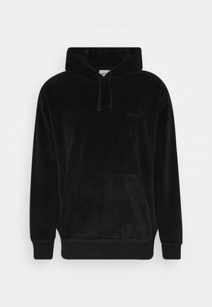 HOODED UNITED SCRIPT  - Bluza z kapturem - black