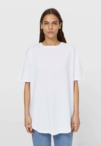 Stradivarius - Basic T-shirt - white - 0