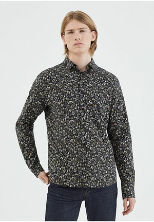 WITH FLOWERY PRINT - Shirt - noir