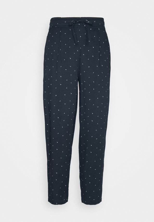 LYDIA TROUSERS - Trousers - midnight navy