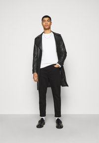 STUDIO ID - CHRISTIAN LEATHER COAT - Leather jacket - black - 1