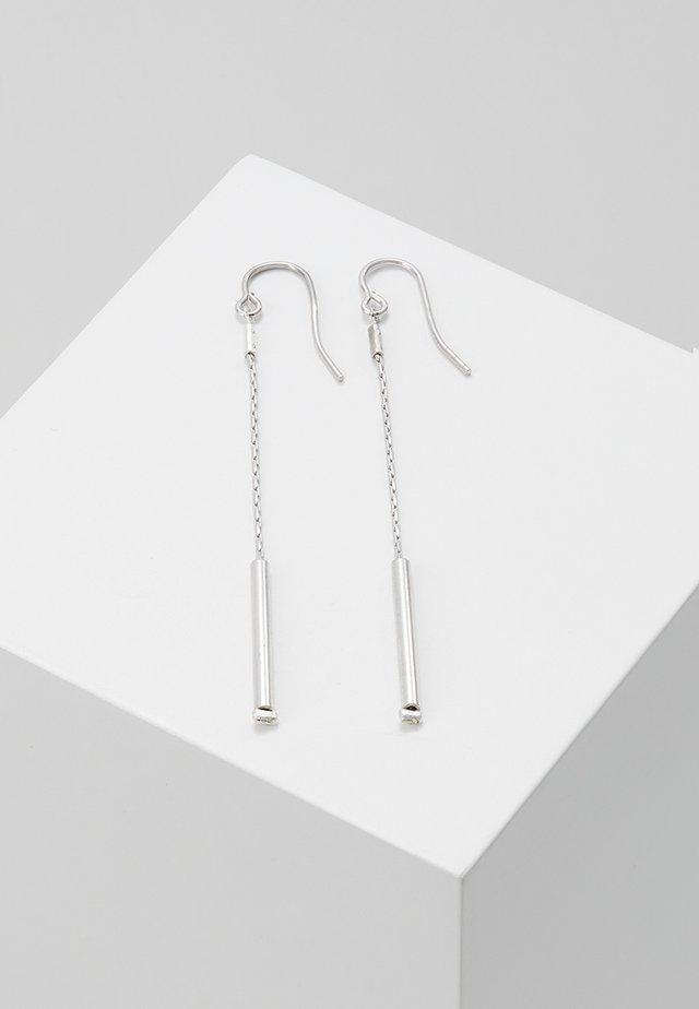 EARRING LONG - Earrings - silver-coloured