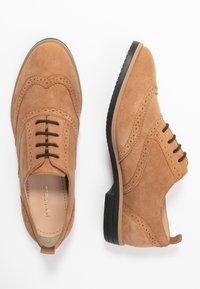 Anna Field - LEATHER FLAT SHOES - Derbies - brown - 3