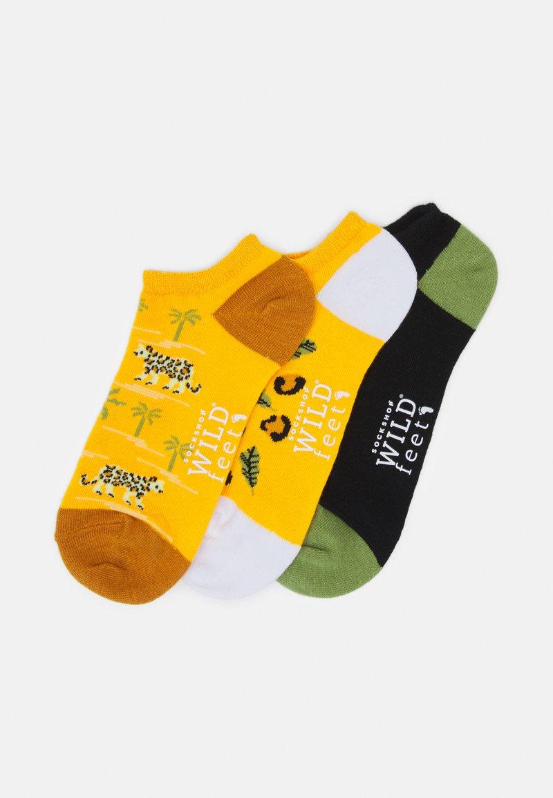 Wild Feet - LEOPARD TRAINER SOCKS 3 PACK - Sokken - multi-coloured