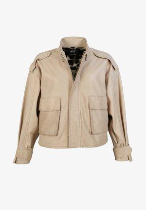 STEHKRAGEN - Leather jacket - sand