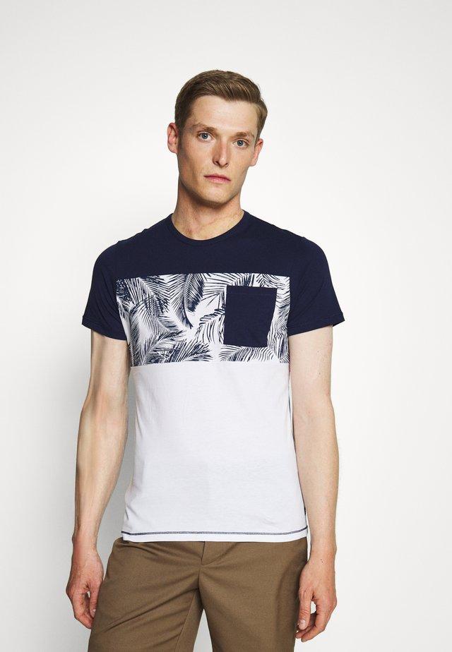 KURZARM - T-shirt z nadrukiem - blue