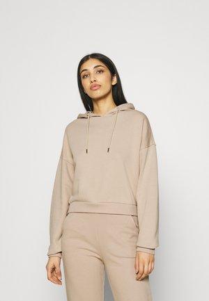 CROPPED HOODIE - Sweatshirt - beige