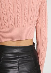 Glamorous - CABLE KNIT CROPPED  - Cardigan - dusty peach - 5