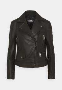 KARL LAGERFELD - IKONIK  BIKER JACKET - Leather jacket - black - 5