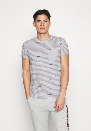 ECKLEY - Print T-shirt - light grey mix