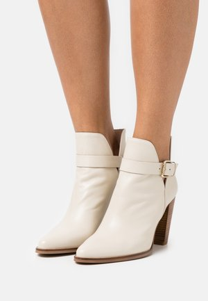 ALENHO - High heeled ankle boots - ivoire