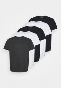 Denim Project - PLUS 5 PACK - Basic T-shirt - black/white - 0