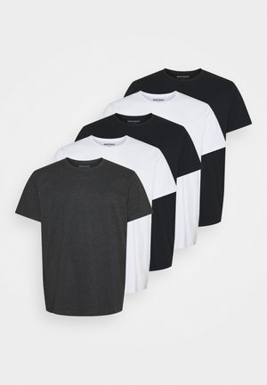PLUS 5 PACK - Basic T-shirt - black/white
