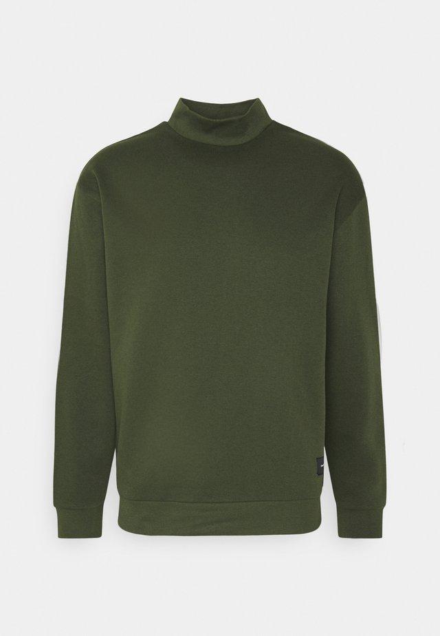 FUNNEL NECK CREW - Sweatshirt - khaki