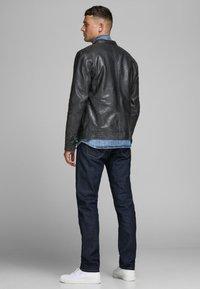 Jack & Jones PREMIUM - Leather jacket - black - 2