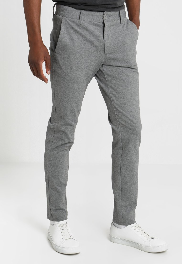 Only & Sons - ONSMARK PANT - Tygbyxor - medium grey melange
