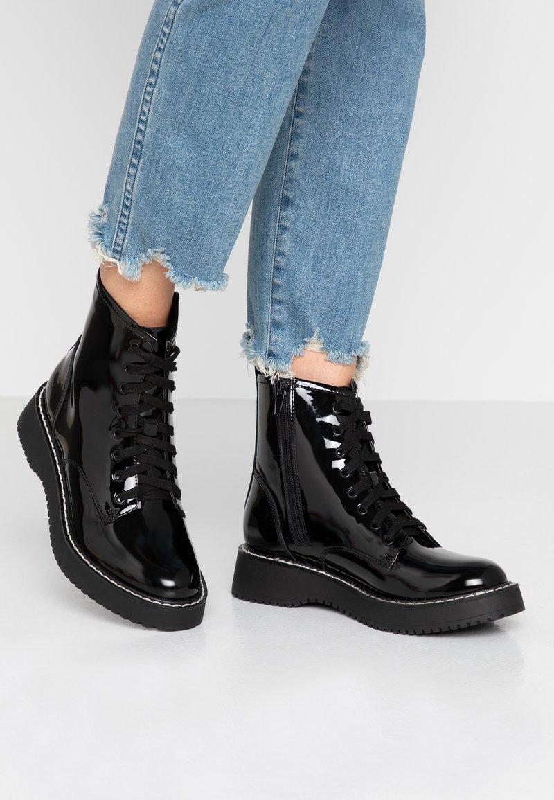 Madden Girl - KURRT - Platform ankle boots - black